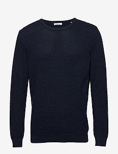 FIELD o-neck sailor knit - GOTS/Veg - podstawowa odzież z dzianiny - total eclipse