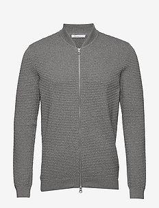 FIELD cardigan sailor knit - GOTS/V - perusneuleet - grey melange