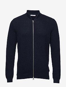 FIELD cardigan sailor knit - GOTS/V - tricots basiques - total eclipse