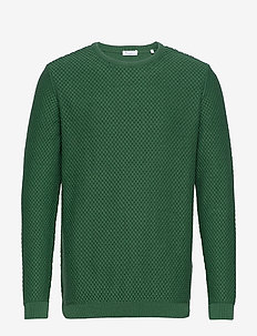 FIELD crew neck knit - GOTS/Vegan - rundhals - pineneedle
