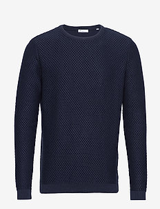 FIELD crew neck knit - GOTS/Vegan - pulls col rond - total eclipse