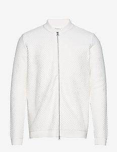 FIELD zip cardigan knit - GOTS/Vega - gilets - star white