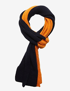 Two colored scarf - GOTS - skjerf - persimmon orange