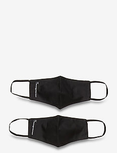 Face mask 2 pack black/black - GOTS - ansiktsmasker - black jet