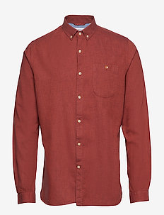 Melange Effect Flannel Shirt - GOTS - basic shirts - fig