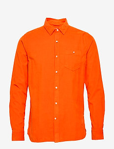 Baby Cord Shirt - casual shirts - persimmon orange