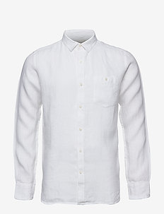 LARCH LS shirt - chemises de lin - bright white
