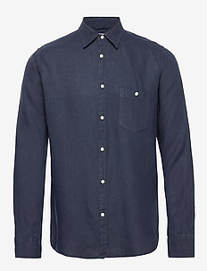 LARCH LS shirt - chemises de lin - total eclipse