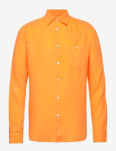 LARCH LS shirt - koszule lniane - zennia yellow