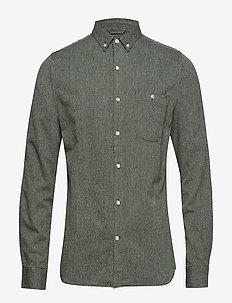 Melange Twill Shirt- GOTS - peruspaitoja - green forest
