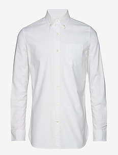 ELDER LS oxford shirt - GOTS/Vegan - basic-hemden - bright white