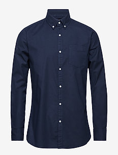 ELDER LS oxford shirt - GOTS/Vegan - basic shirts - total eclipse