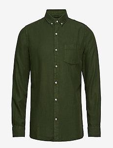 Twill shirt/Vegan - GREEN FOREST