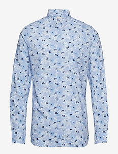 Shirt with small palm print - GOTS - businesskjorter - skyway
