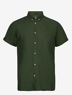 Short sleeve twill shirt/Vegan - peruspaitoja - pineneedle