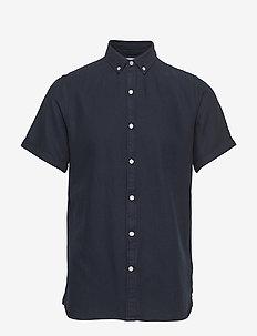 Short sleeve twill shirt/Vegan - peruspaitoja - total eclipse