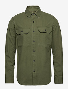 Long sleeve moleskin shirt - GOTS/V - hauts - green forest