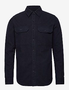 Long sleeve moleskin shirt - GOTS/V - overshirts - total eclipse