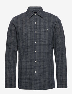 Long sleeve checked shirt - GOTS/Ve - checkered shirts - total eclipse
