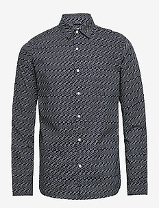 Long sleeve poplin shirt with AOP - - casual shirts - total eclipse