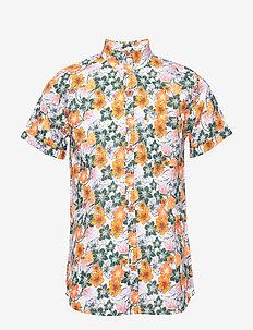 ELDER SS flower shirt - OCS/Vegan - lyhythihaiset paidat - pineneedle
