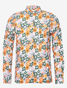 LARCH LS flower shirt - OCS/Vegan - casual shirts - pineneedle
