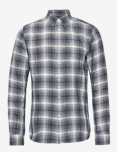 LARCH LS checked shirt - GOTS/Vegan - chemises de lin - total eclipse