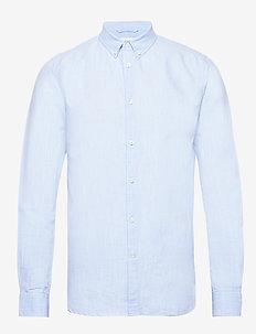 LARCH LS linen shirt - GOTS/Vegan - basic skjorter - skyway