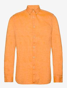LARCH LS linen shirt - GOTS/Vegan - basic skjorter - zennia yellow