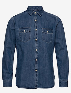 LARCH LS denim shirt - GOTS/Vegan - denim shirts - vintage indigo