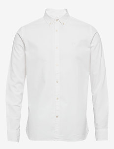 ELDER regular fit small owl oxford - peruspaitoja - bright white