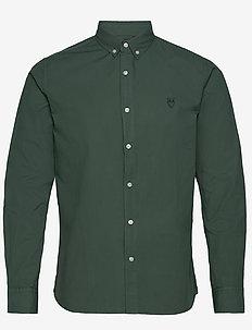 LARCH LS owl shirt - GOTS/Vegan - podstawowe koszulki - pineneedle