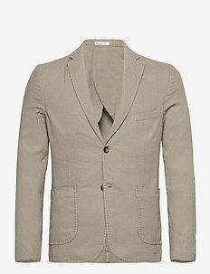 Structured blazer - blazers met enkele rij knopen - feather gray