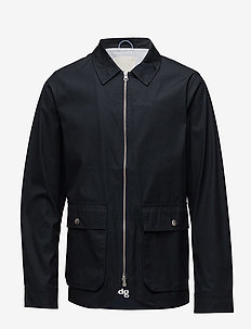 Waxed jacket with big pockets - coupe-vent - total eclipse