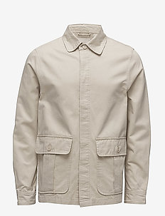 Twill short jacket - LIGHT FEATHER GRAY