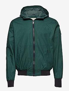 BASSWOOD hood jacket - light jackets - bistro green