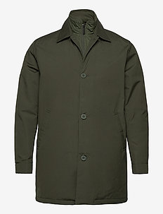 Arctic Canvas jacket with buttons - - trenchcoats - forrest night