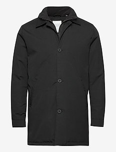 Arctic Canvas jacket with buttons - - trenchcoats - phantom
