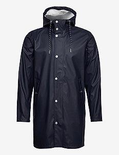 LAKE long rain jacket - Vegan - regnjakker - total eclipse