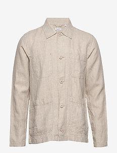 PINE linen overshirt - Vegan - overshirts - light feather gray