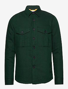 PINE LS quilted overshirt - VEGAN - chemises basiques - pineneedle