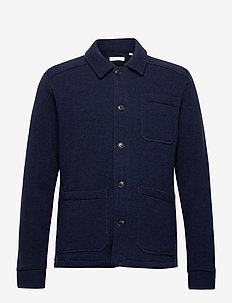 PINE functional wool overshirt - oberteile - total eclipse