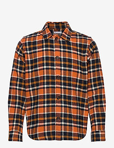 PINE checked overshirt - GOTS/Vegan - overshirts - total eclipse