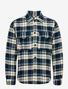 PINE checked overshirt - GOTS/Vegan - overshirts - moonlite ocean