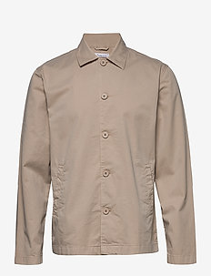 PINE poplin overshirt - GOTS/Vegan - odzież - light feather gray