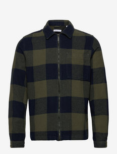 PINE checked heavy flannel overshir - kleding - forrest night