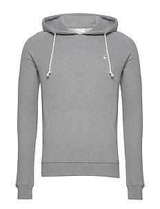 ELM small owl hoodie sweat - GOTS/V - perus-college-paitoja - grey melange