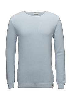 Pique crew neck knit  - GOTS - SKYWAY