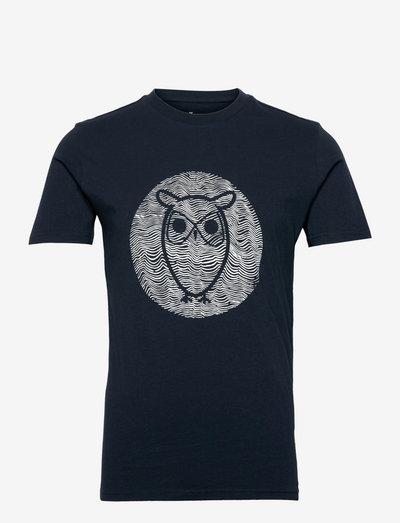 ALDER big owl lined tee - GOTS/Vega - korte mouwen - total eclipse
