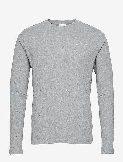 LOCUST transfer LS tee - GOTS/Vegan - basic t-shirts - grey melange